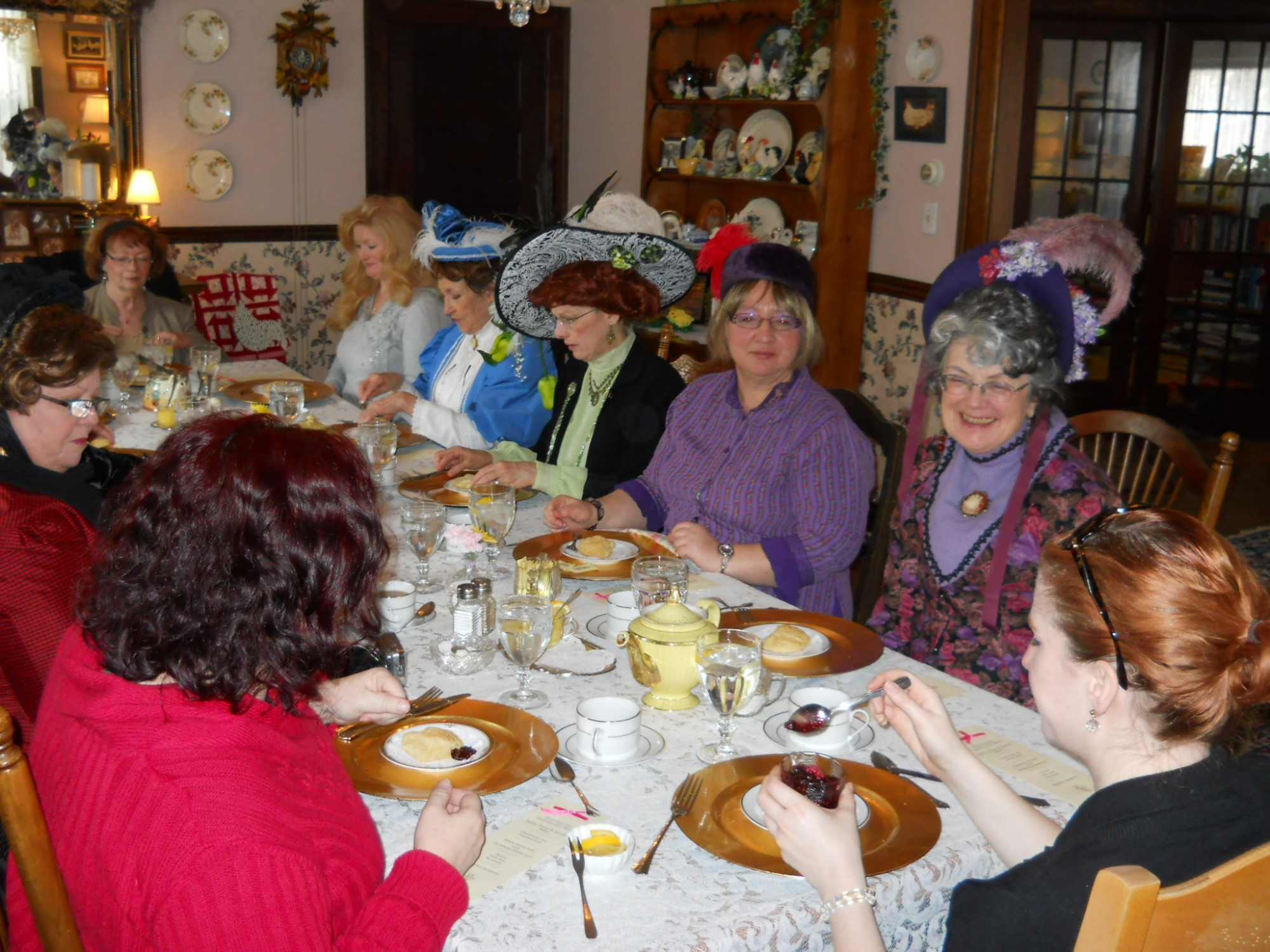 We had 12 for Tea. Our guests enjoyed, scones, tea sandwiches and several other goodie, of course Tea.