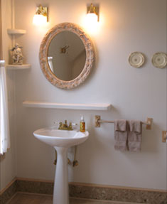 Angel Room bathroom at our Bed and Breakfast Port Townsend