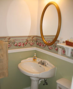 Roseview Room sink at our Inn Port Townsend Washington