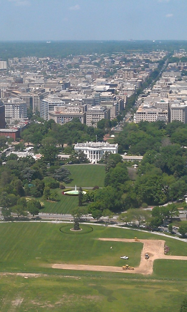 White House from Washinton Monument