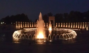 World War ll Memorial at Night